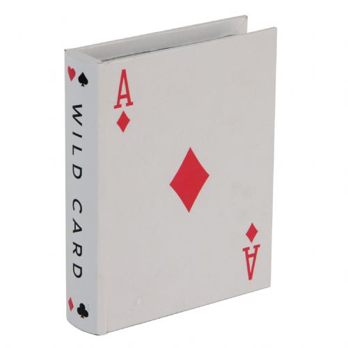 Playing Card Design MDF Storage Box - Ace 'Wild Card'